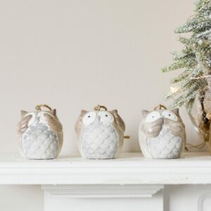 Hanging Hear, See, Speak No Evil Christmas Owls