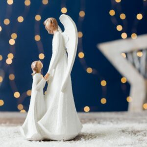 Mother And Child Christmas Angel Ornament