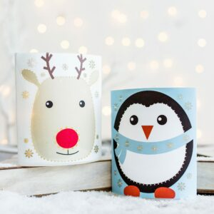 Festive LED Paper Lantern Penguin/Reindeer Assortment
