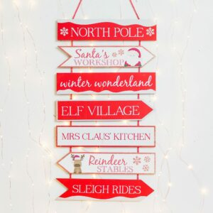 Red & White Glitter Christmas Tier Plaque