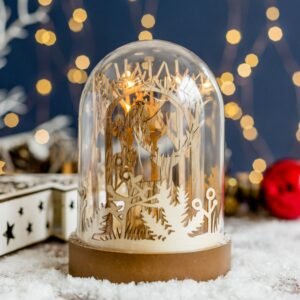 LED Woodland Stag Dome