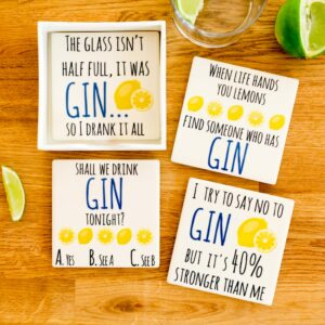 Ceramic Gin Coasters Set