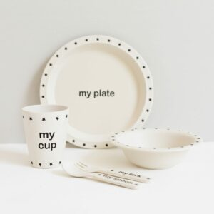 Children's Tableware Bamboo Set