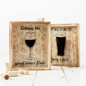 Wooden Wine Cork Collection Box