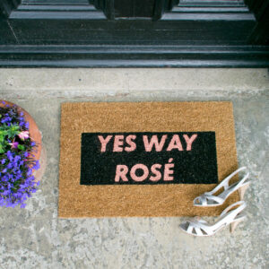 Yes Way Rose Glitter Doormat