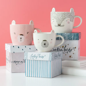 Family of Bears Cups with Gift Box