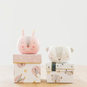 Bunny & Bear Egg Cup Assortment with Gift Box