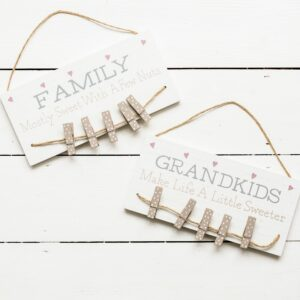 Wooden Family Hanging Peg Plaque Assortment