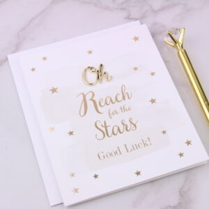 Reach For The Stars Good Luck Card