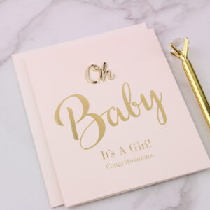 It's a Girl Congratulations Card