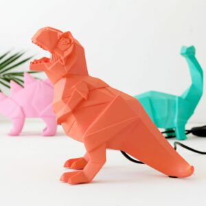 Orange T-Rex Dinosaur Night Light Assortment with Plug