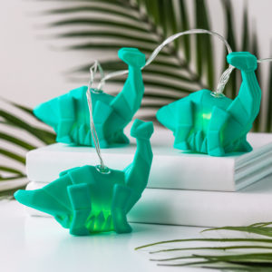 String of Origami Green Diplodocus Dinosaur Fairy Lights