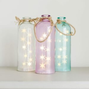 Glass Bottle with LED Stars Assortment