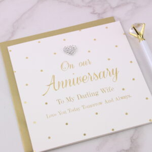 To My Darling Wife Anniversary Card