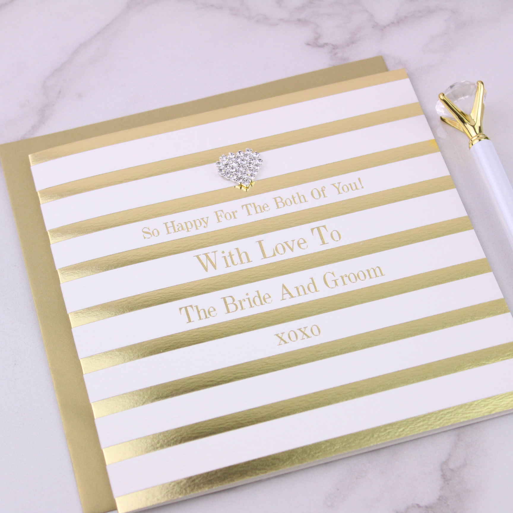 With Love to The Bride & Groom Wedding Card