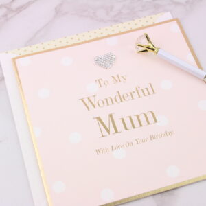 Large Wonderful Mum Birthday Card