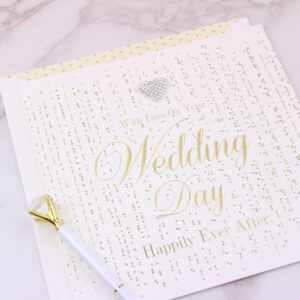 Large Happily Ever After Wedding Day Card