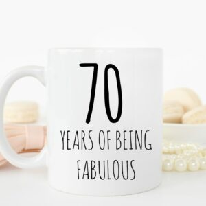 70 Years Fabulous Mug