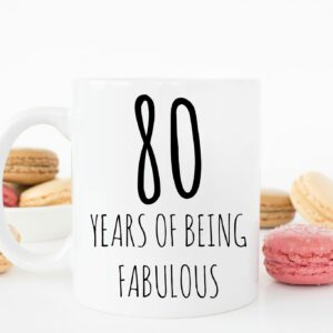 80 Years Fabulous Mug