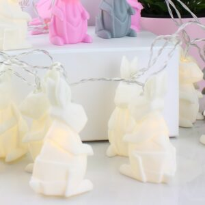 Origami White Rabbit Fairy Lights