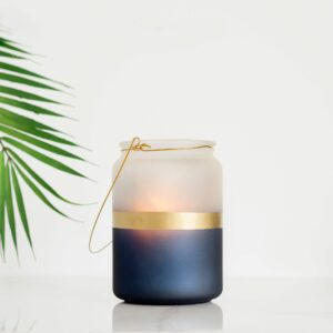 Gold Stripe Candle Holder