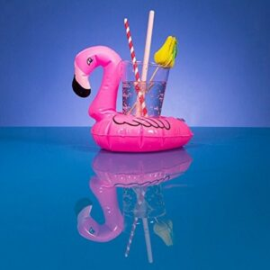 Inflatable Pink Flamingo Beverage Can Holder