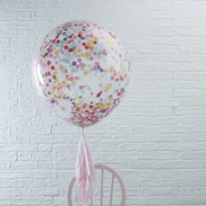 Self Inflated Large Confetti Filled Balloons