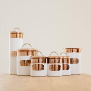 White & Copper Kitchen Tin Assortment