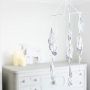 Grey Feather Hanging Mobile