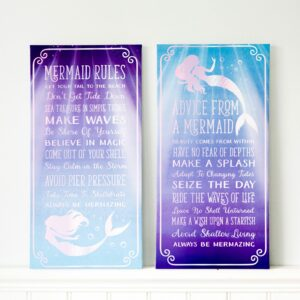Purple & Blue Ombre Mermaid Canvas