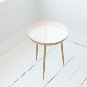 Pink Enamelled Side Table