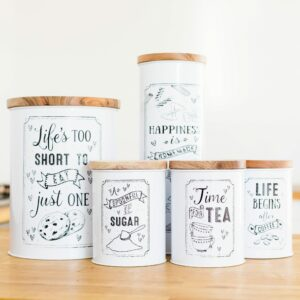 White Kitchen Storage Jars Assortment