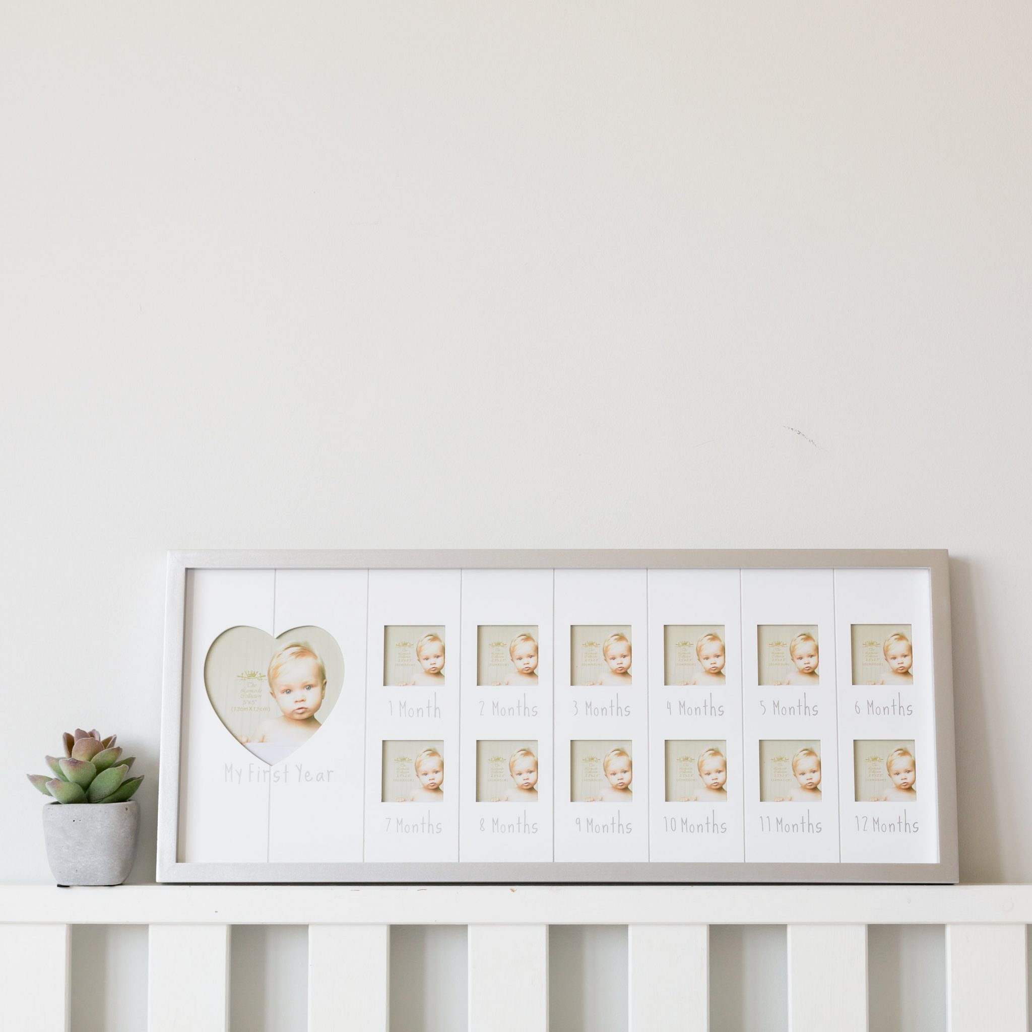 Landscape Sentiments Silver My First Year Baby Photo Frame Love
