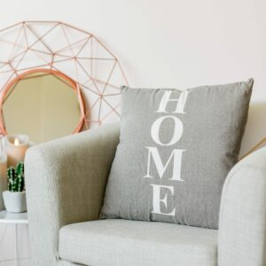 Grey Home & Star Reversible Cushion