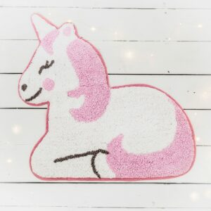 Soft Pink & White Unicorn Rug