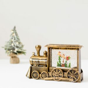 Gold Vintage Water Spinning Train