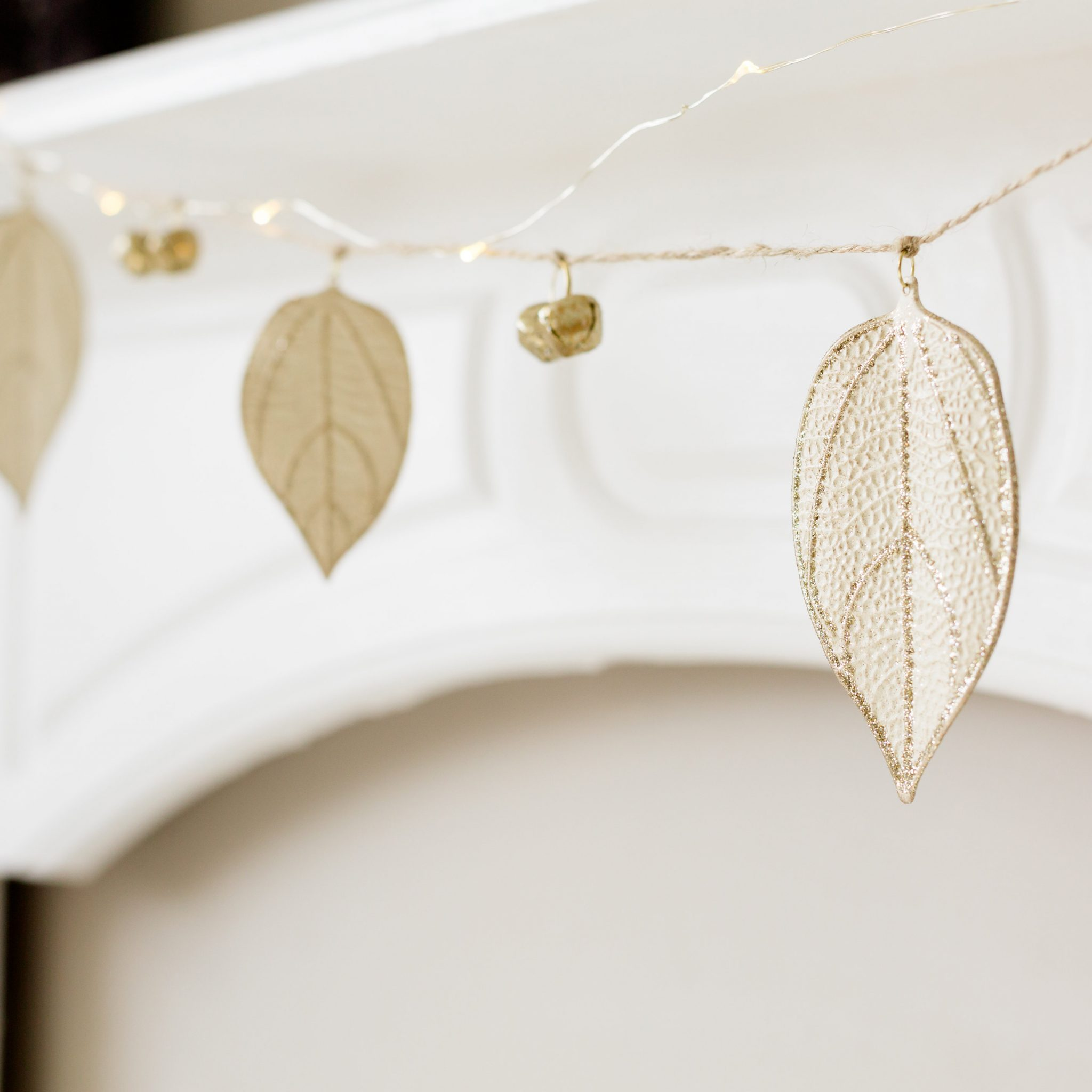 metal leaf bell christmas garland love unique home