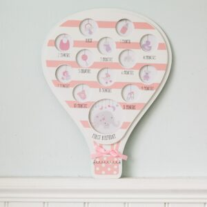 First Year Pink Hot Air Balloon Photo Frame