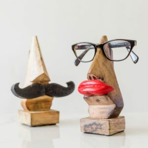Moustache or Lips Wooden Glasses Holder
