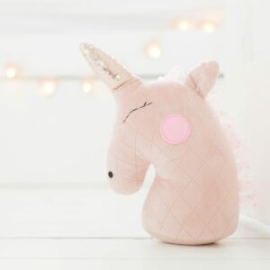Blush Pink Unicorn Head Door Stop