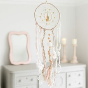 Pink Pompom Dream Catcher