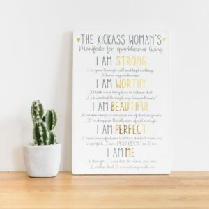 Kick Ass Woman's Majestic Plaque