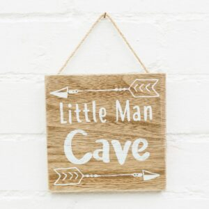 Little Man Cave Hanging Plaque