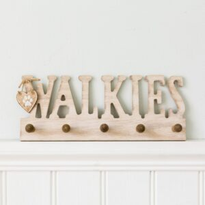 Walkies Dog Lead Peg Plaque