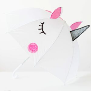 3D White Magical Unicorn Umbrella