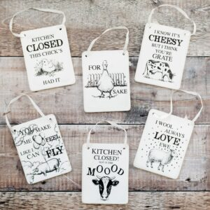 Animal Pun Hanging Wall Plaque