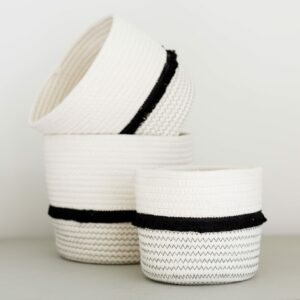 Tilly Cotton Rope Storage Baskets
