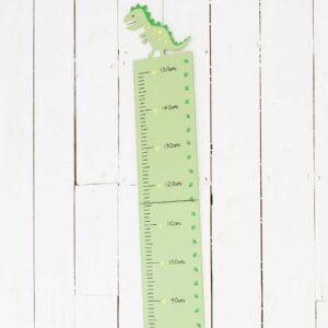 Green Dinosaur Wooden Height Chart