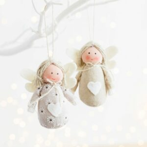 Linen Angel Christmas Decorations
