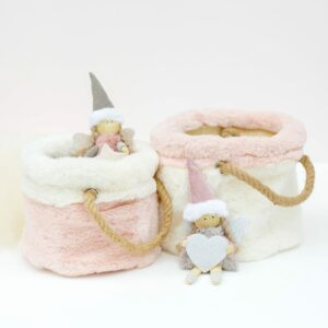 Fabric & Fur Basket